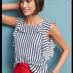 Anthropologie Eva Franco Keely striped shirt Sz XS
